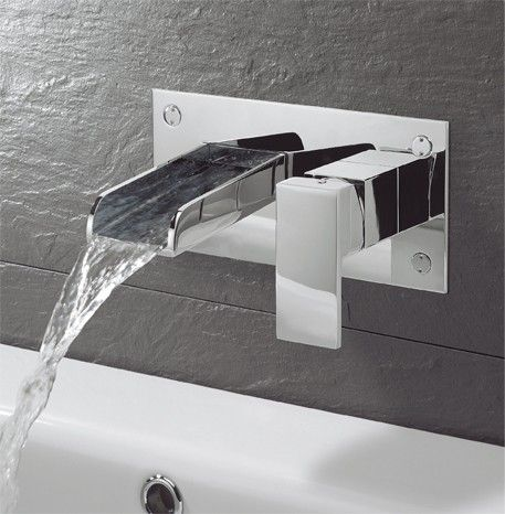 Wall Mounted Bath Taps Bathroom Basin Taps and Wastes Pinterest ...