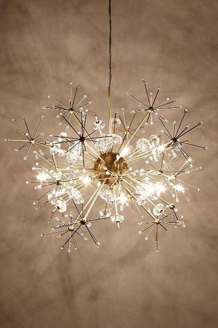 Favorite Sputnik chandelier  Think this looks like a dandelion head.