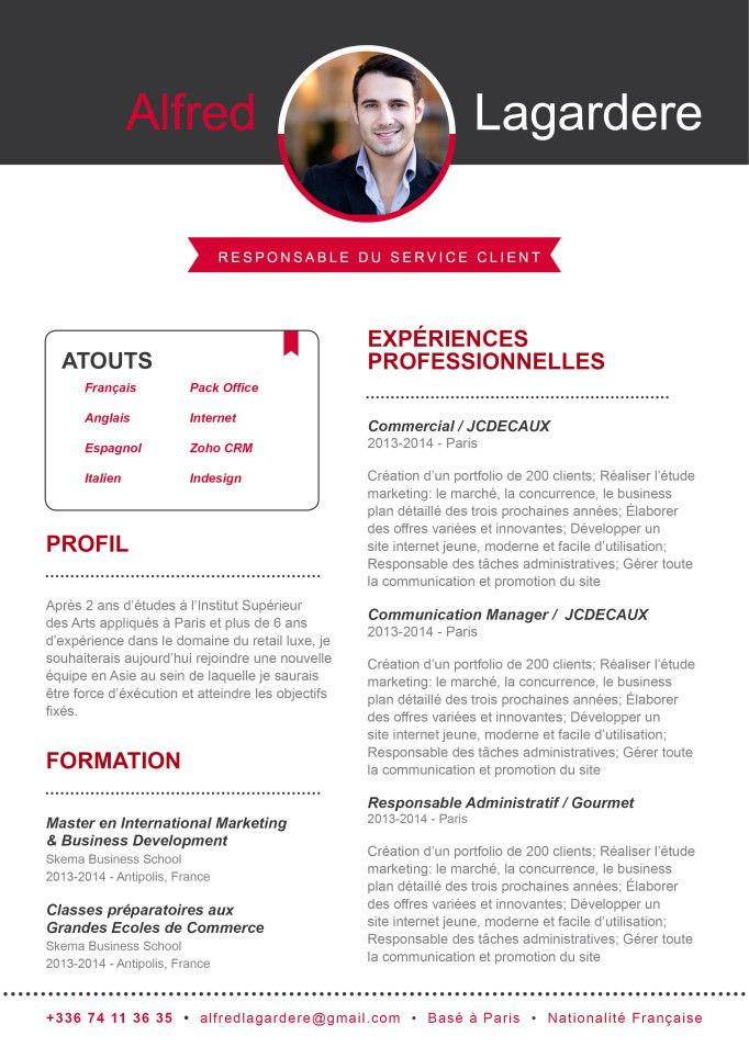 exceptionnel cv responsable de communication mb16