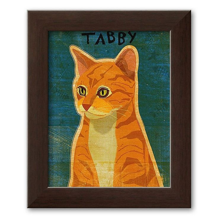 Art.com Tabby (orange) Framed Art Print by John Golden, Multicolor