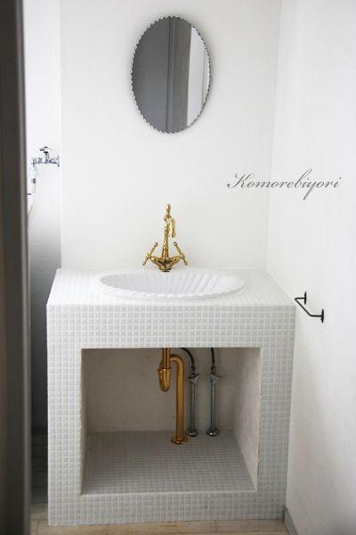 モザイクタイルで、洗面台のリフォーム完成♪ |komorebiyori