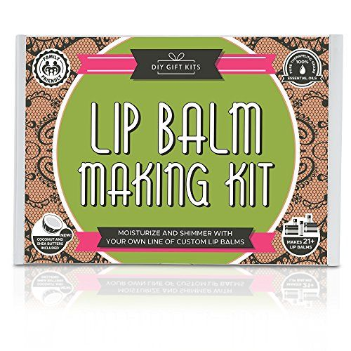 DIY Lip Balm Kit 73Piece Set Homemade Natural and Organic  Includes Tubes Beeswax Pouch Essential Oils Labels Stir Sticks  More -- Want additional info? Click on the affiliate link Amazon.com on image.