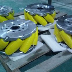 A Set Of 15inch (375mm) Heavyduty Industrial Mecanum Wheel Nm375a. Nexus Industry Omni wheel&Mecanum wheel is heavy load Omni wheel&Mecanum wheel.