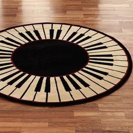 Round piano rug