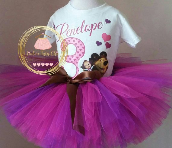 Check out this item in my Etsy shop https://www.etsy.com/ca/listing/288139831/masha-and-bear-birthday-outfit-masha-and