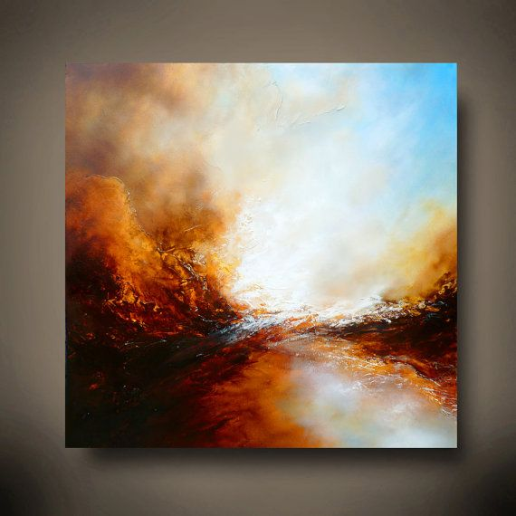 Grande toile abstraite peinture de Simon par SimonkennysPaintings