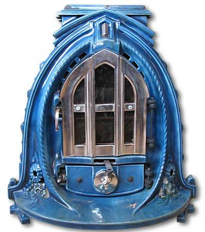 1920s french Gothic stove
