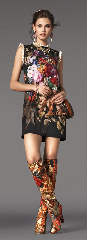 Dolce  Gabbana Baroque Collection FW 2012 http://www.dolcegabbana.com/. Those boots are amazing!!!!