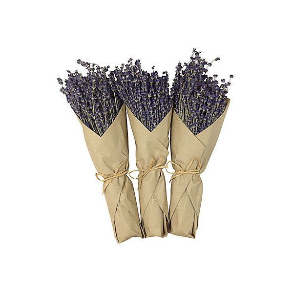 French Lavender Bunches Dried Set of 3 Architectural Columns Pedestals... (225 RON) ❤ liked on Polyvore featuring home, home decor, decorative accessories and purple home decor