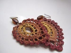Crocheted earrings by Sadie Williams