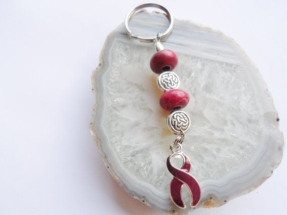 Brain Aneurysm & Headache Support Key Chain by uniquevisionsbyjen, $4.00