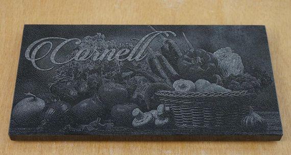 Custom Engraved Trivet  Black Granite with vinyl by ArcLightLaser