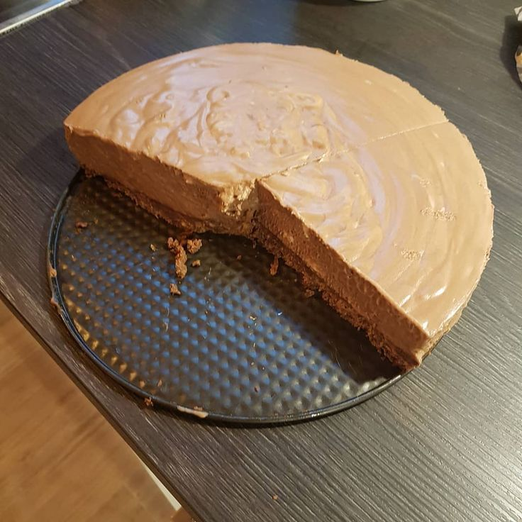 Mmmmhm, yummy! Chocolate cheesecake... Probably the easiest cake to do but extre... - Schoko Käsekuchen
