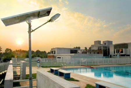 Jindal's solar powered Solar Street Light is a standalone system designed for outdoor application.