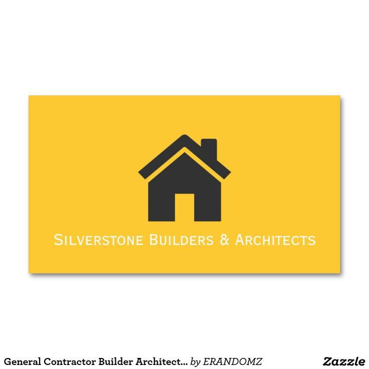 22 best architect business cards images on pinterest construction general contractor builder architects construction business card reheart Images