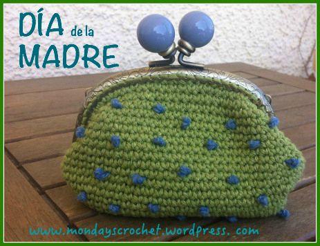 Monedero de crochet para el Día de la Madre / Wallet of crochet mother´s day.