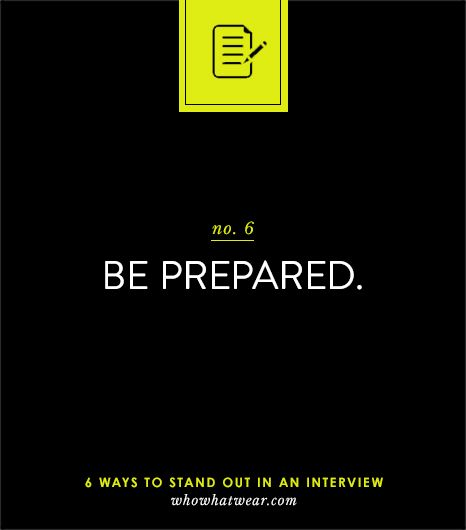 Preparation is EVERYTHING // #careers #advice