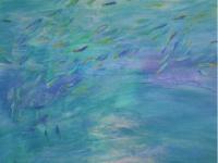 Bait Fish  91cm x 91cm  mixed media on canvas  $1,200.00