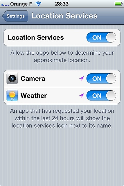 iphone and location tracking