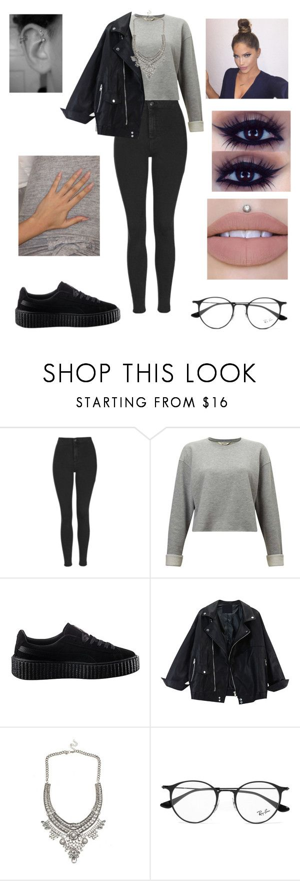 """""""Untitled #3096"""" by vanessa898 ❤ liked on Polyvore featuring Topshop, Miss Selfridge, Puma and Ray-Ban"""