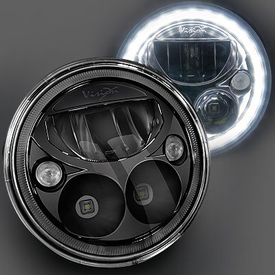 "Vision X Lighting 7"" Vortex LED Headlamp Kit with Halo Ring for 07-15 Jeep Wrangler JK & JK Unlimited"