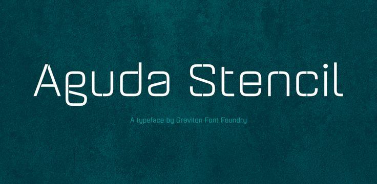 70% Off Aguda Stencil ☞ https://www.hypefortype.com/foundries/graviton/aguda-stencil.html #font #sale