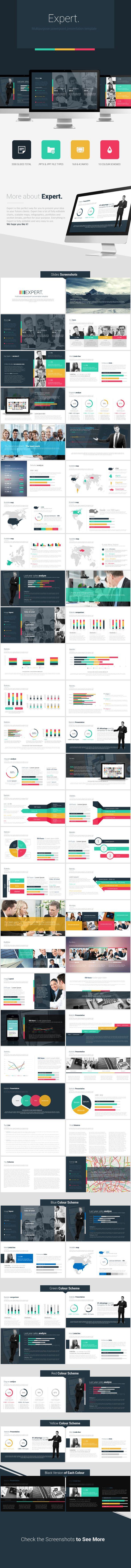 Expert Powerpoint Presentation Template PowerPoint Template / Theme / Presentation / Slides / Background / Power Point #powerpoint #template #theme