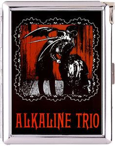 Alkaline Trio vampire lady double-sided cigarette lighter card case wallet money clip holder by starzcase on Etsy