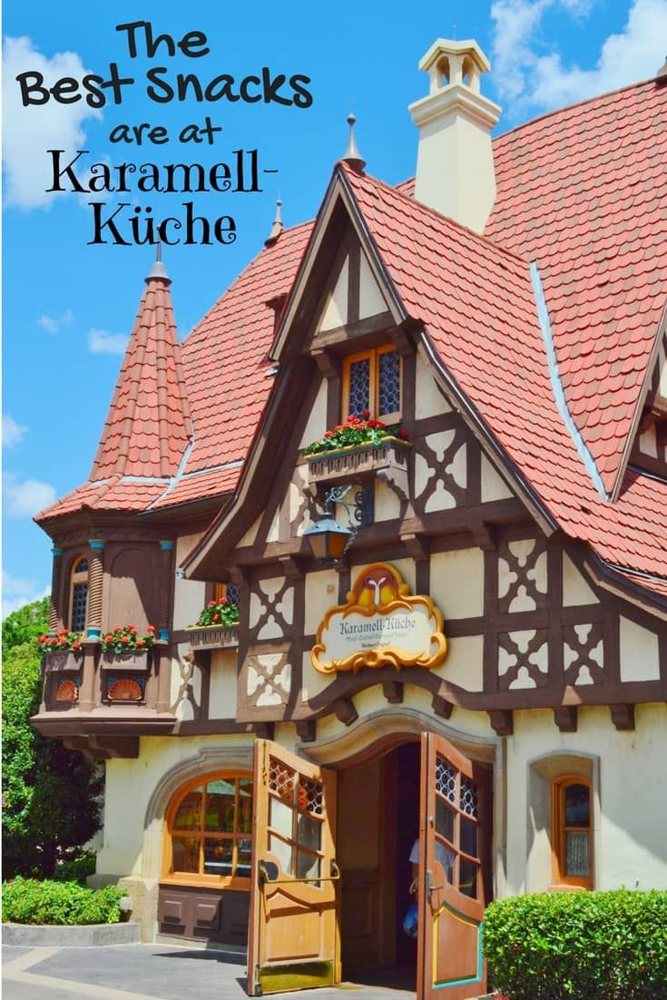If you are going to Epcot save some room for snacks at Karamell-Küche located in Germany Pavilion at the World Showcase. via @disneyinsider