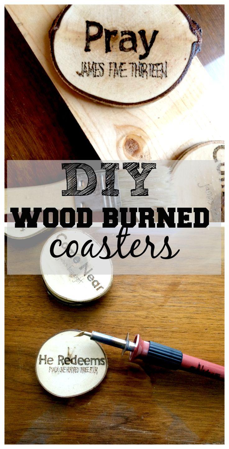 DIY Wood Burned Coasters 225 best Wood