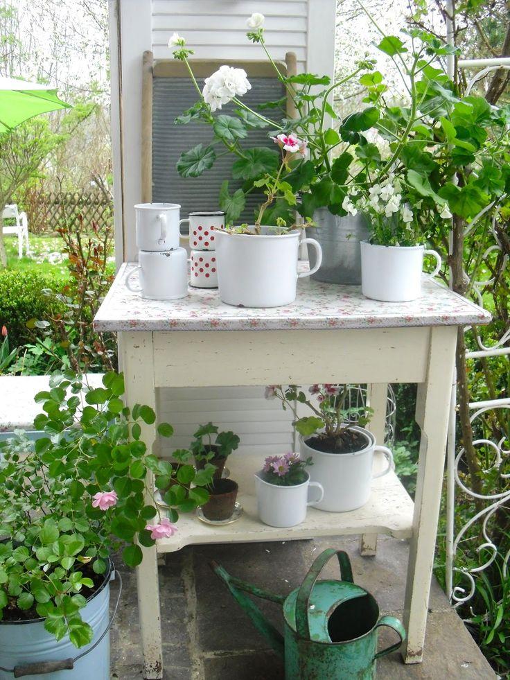 small potting table