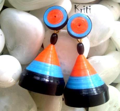 Paper Quilling Jhumka Designs By Kriti Handmade Jewelry - Life Chilli