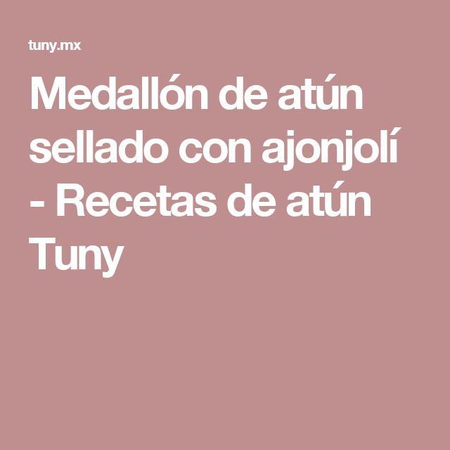 Medallón de atún sellado con ajonjolí - Recetas de atún Tuny