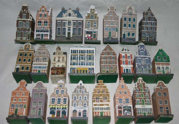 Stunning coll. 23 Dutch Canal Houses, Amsterdam grachtenhuizen, Delft Holland row house, Canal house Collectible canal house Amsterdam Photo by BrocanteYvette on Etsy https://www.etsy.com/listing/263539891/stunning-coll-23-dutch-canal-houses