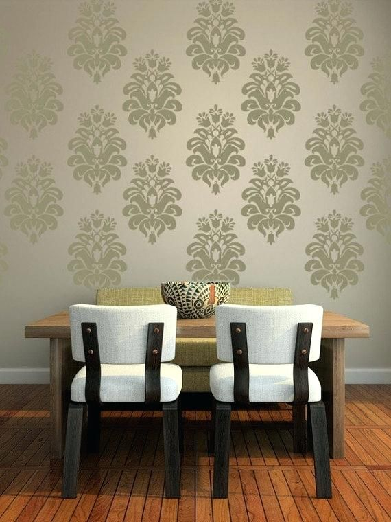 damask wallpaper decals damask wall decals target | living room