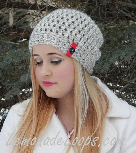 Colie's Crochet Slouch Hat Pattern  Beanie with by LemonadeLoops