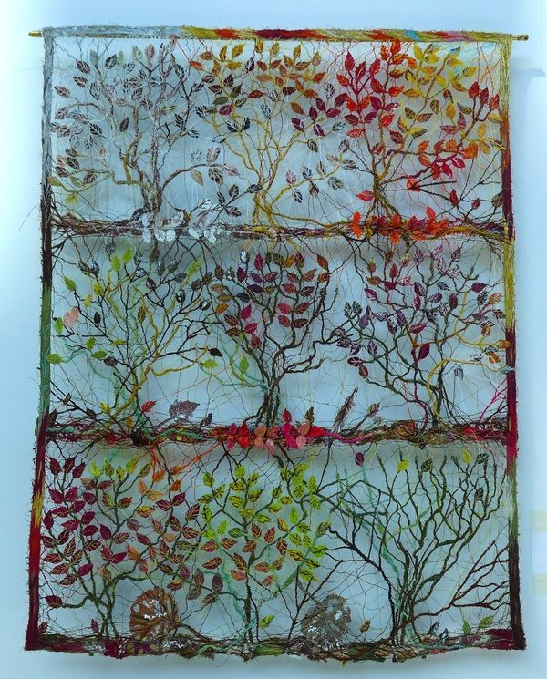 Maija Brummer: Laubfärbung Ausstellung Blumen, Blätter, Baumgeflüster NADELWELT…