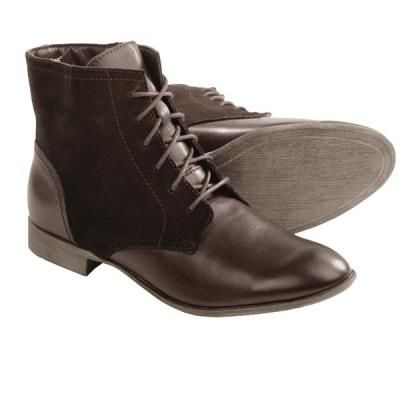 $62, Farland Ankle Boots Leather Suede Dark Brown Leather by Hush Puppies. Sold by Sierra Trading Post. Click for more info: http://lookastic.com/women/shop_items/104041/redirect