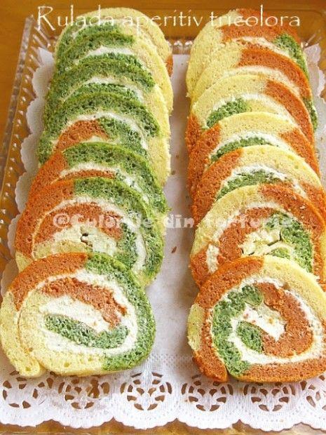 » Rulada aperitiv tricoloraCulorile din Farfurie