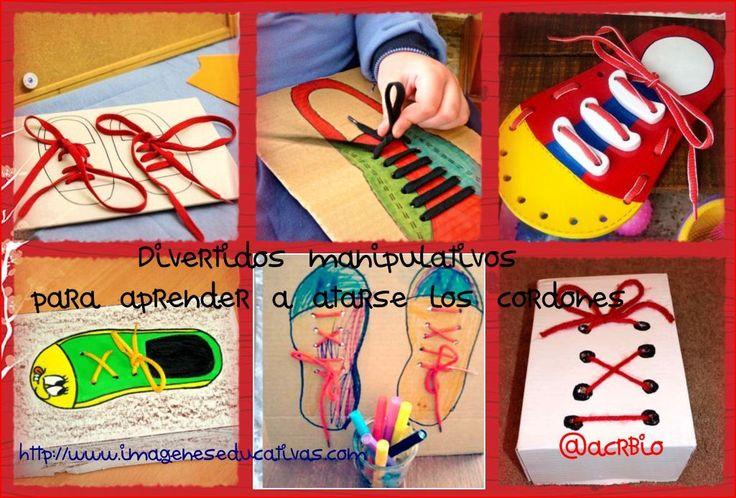 Divertidos manipulativos aprendemos a atarnos los cordones de los zapatos