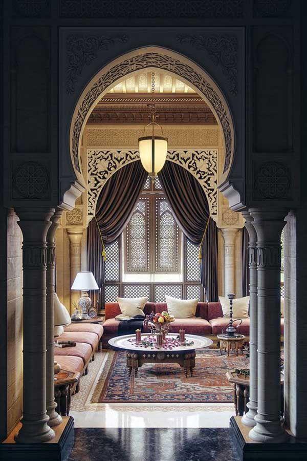 مجالس عربية ومجالس رجال بروح الديكور المغربي الفخم Arabian Decor Moroccan Design Oriental Interior