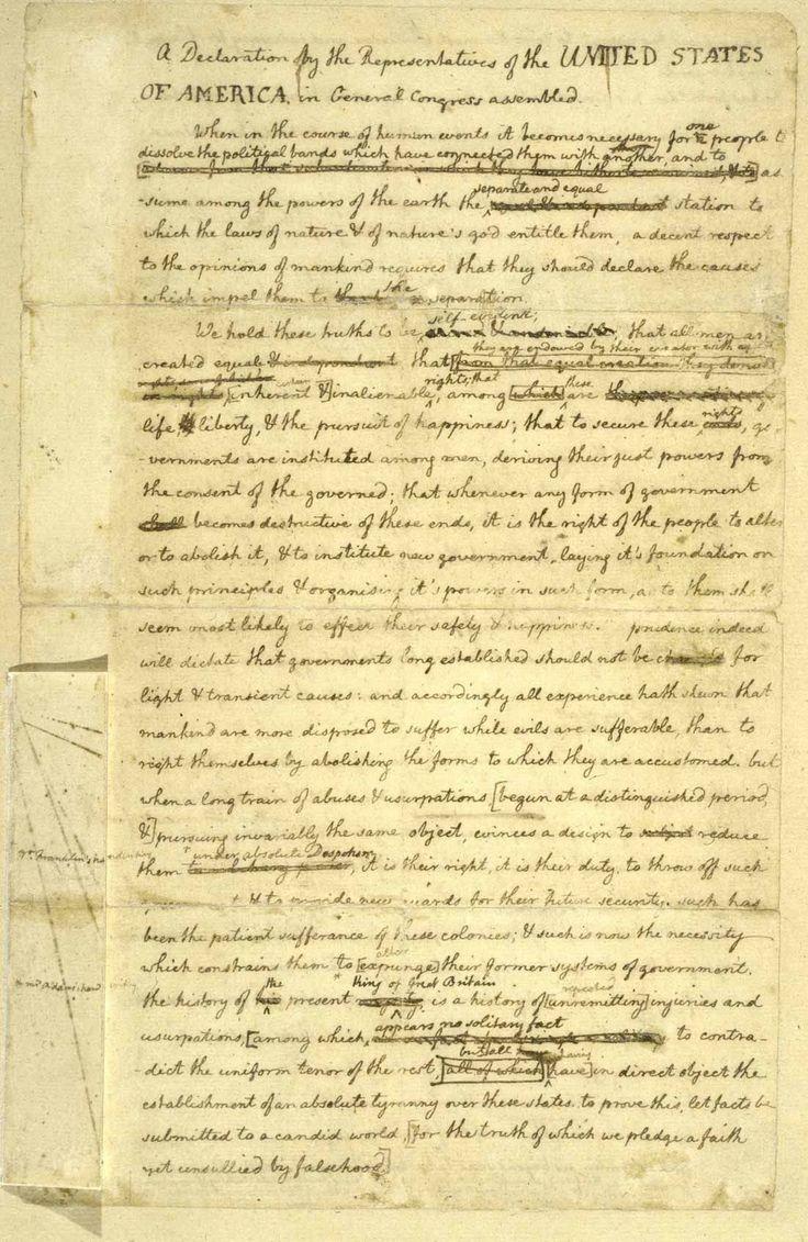 Declaration Of Independence Worksheet Answer Key en 2020