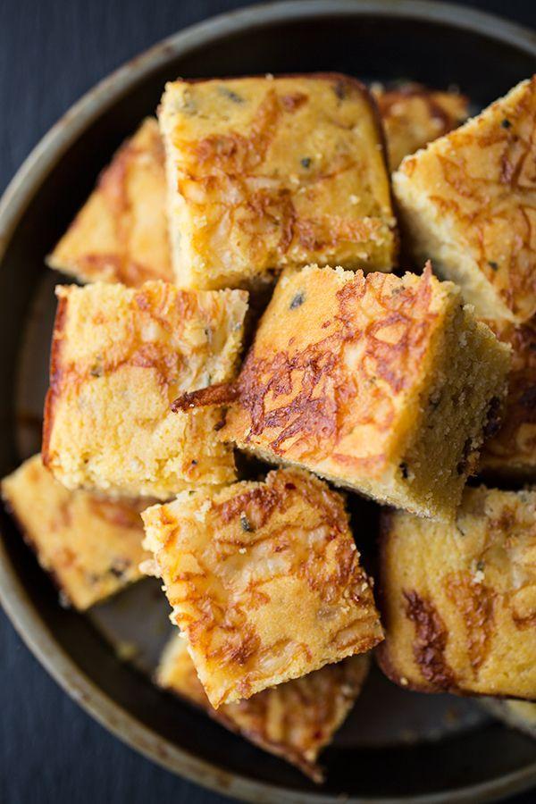 Cornbread with Crispy Bacon and Caramelized Onions. Serve with salted whipped butter and honey. Delicious.