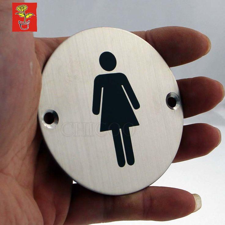Hi-Q Door Sign Plates Toilet Plate Women Signs Stainless Steel Door Name Plate Office WC Plate Door Sign Projects Hardware