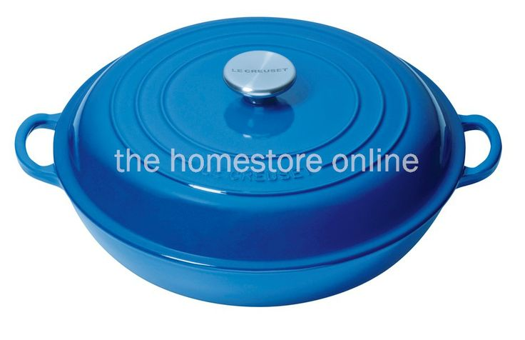 Le Creuset Shallow Round Casserole 30cm (Marseille Blue) - The Homestore NZ