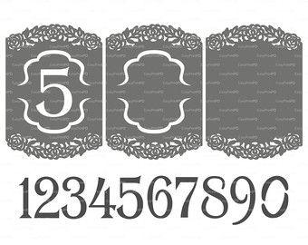 Invitación de la boda plantilla de tarjeta de patrón encaje pliegues  (studio V3, svg, dxf, ai, eps, png, pdf) lasercut instantánea descargar  Silhouette