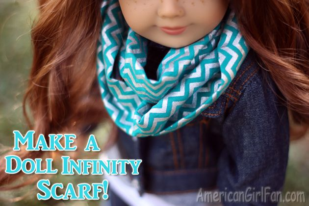 How to make a doll infinity scarf tutorial