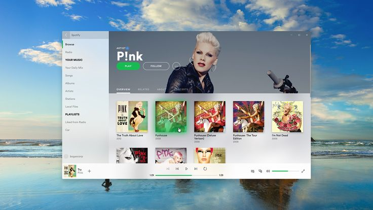 Spotify (Microsoft Project Neon) on Behance