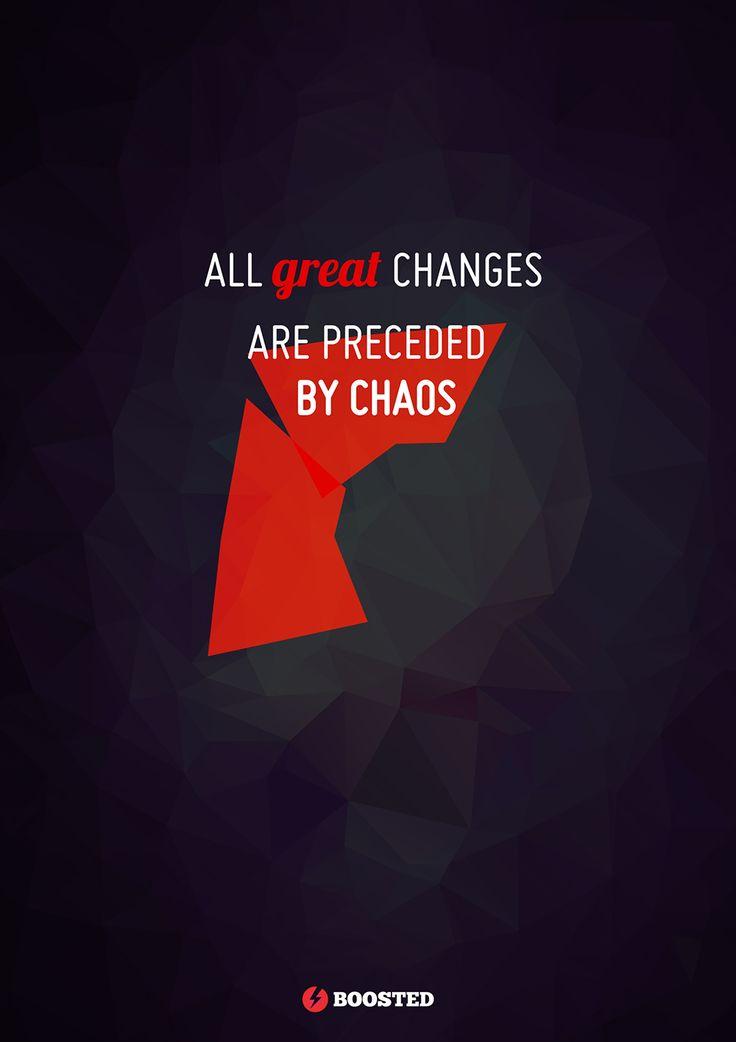 Motivační plakát Chaos (Anglicky)