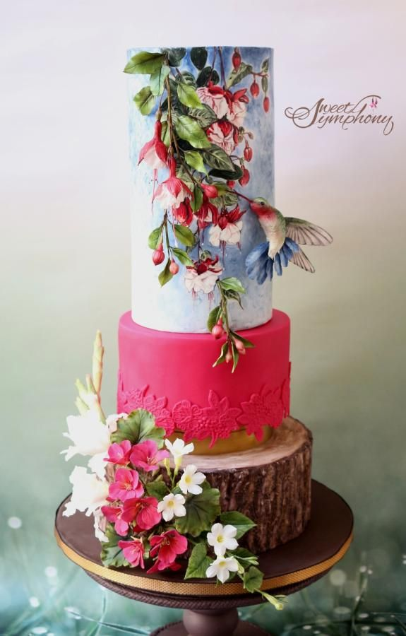 Garden of Love by Sweet Symphony - http://cakesdecor.com/cakes/272664-garden-of-love